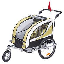 HomCom Kinder-Fahrradanhänger