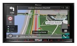 Autoradio mit Navigationsgerät