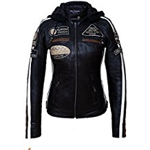 Urban Leather Damen-Motorradjacke