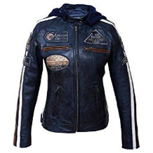 Urban Leather Damen-Motorradjacke