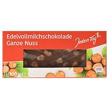Jeden Tag Schokolade mit Nüssen