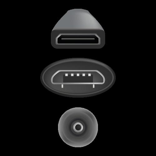 HDMI- und USB-Ports