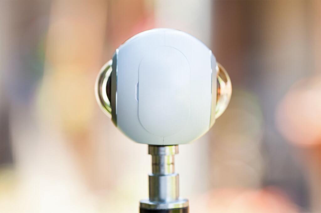 weiße 360-Grad-Kamera