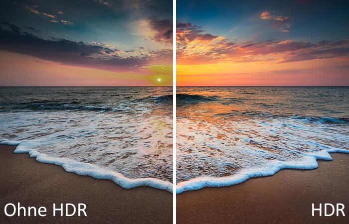 Mit und ohne HDR