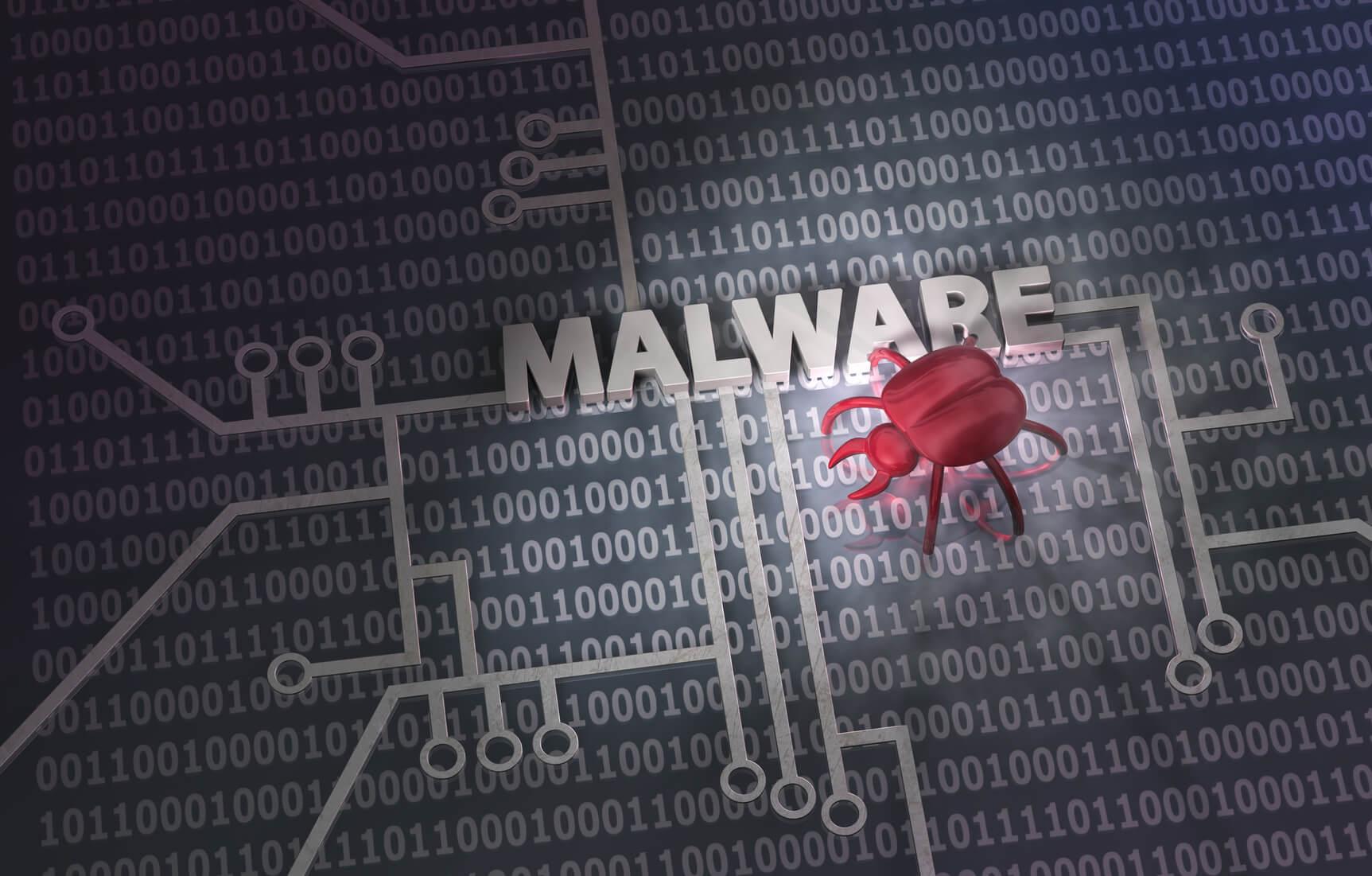 Virenscanner Malware Schriftzug
