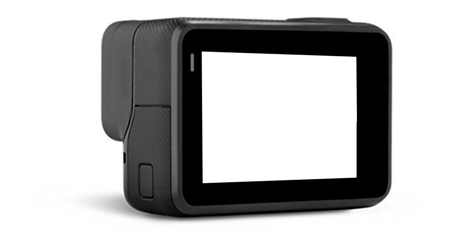 Action-Cam mit Touchscreen
