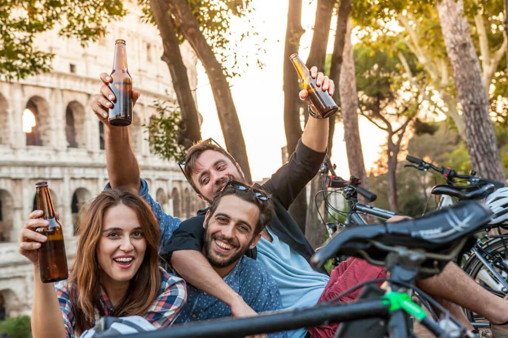 Trinken im Park
