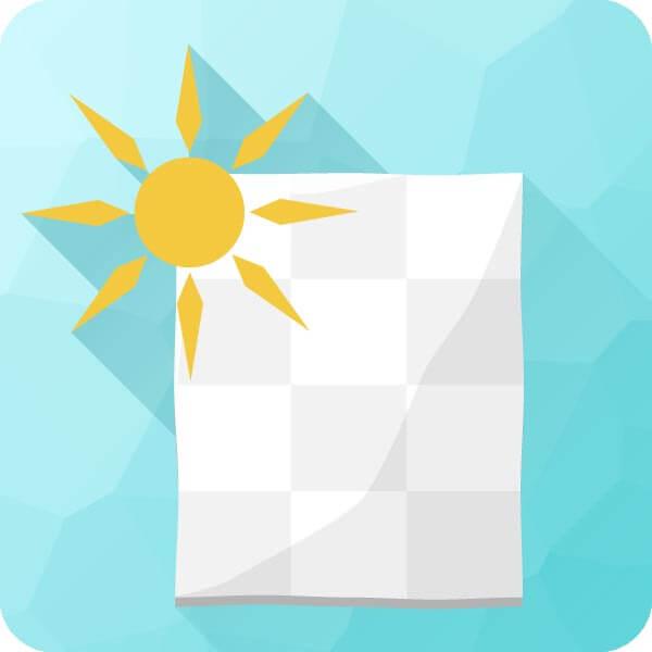 Icon zu leichter Sommerdecke
