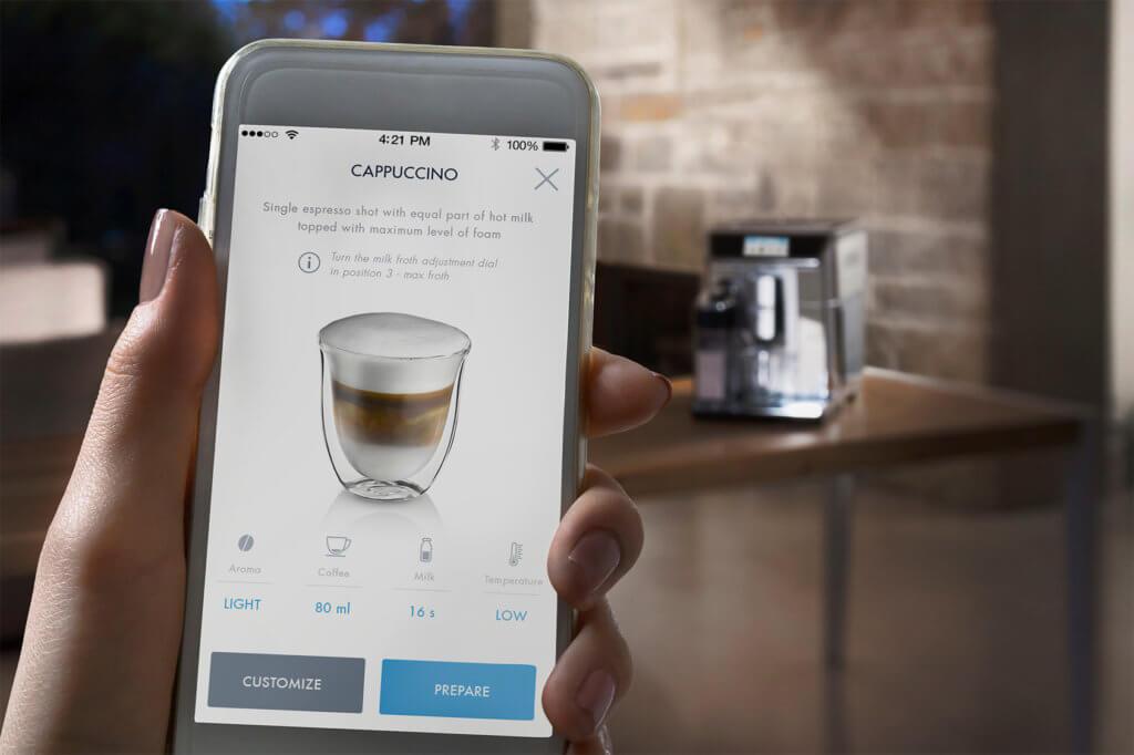 Kaffeevollautomaten DeLonghi App