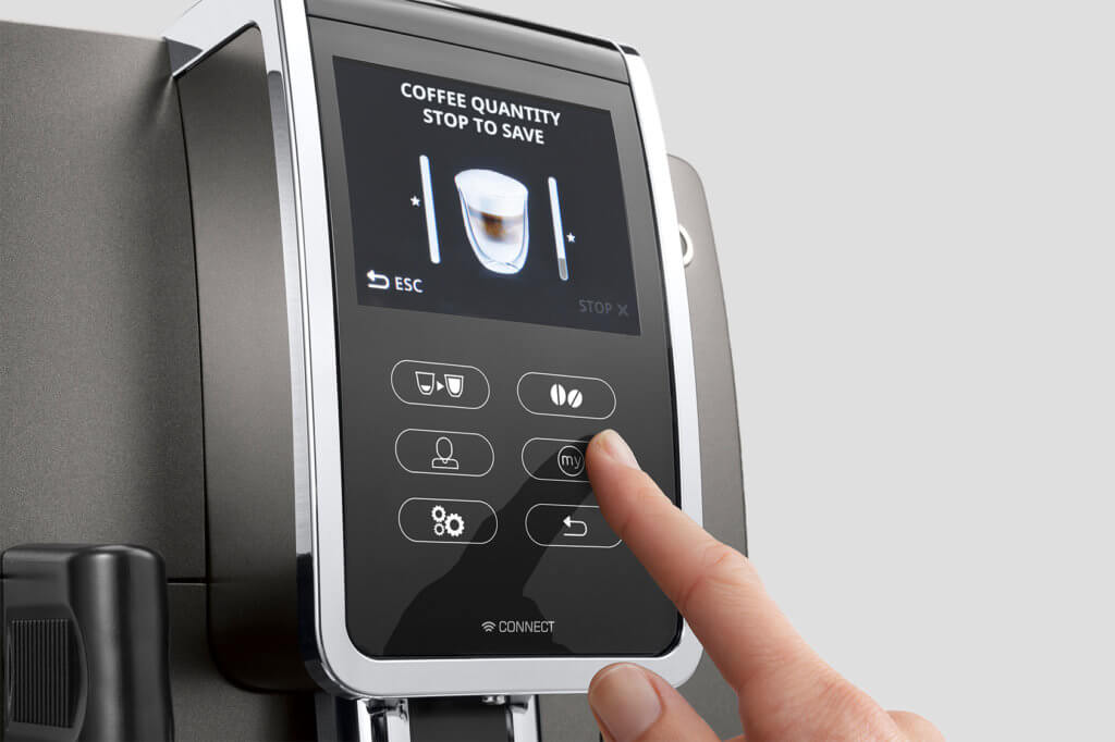 Display eines DeLonghi Kaffeevollautomaten