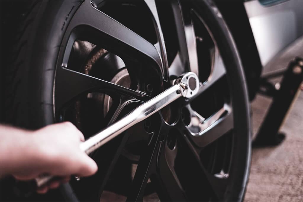 Drehmomentschlüssel für Rädertausch