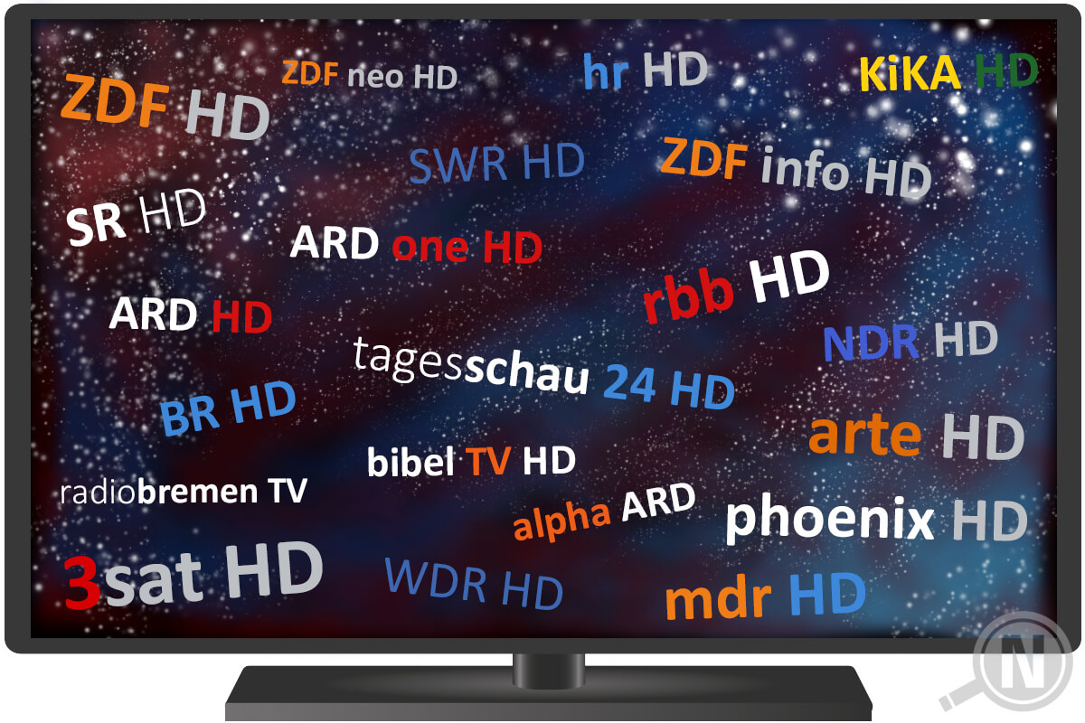 DVB-T2 HD - Frei empfangbare Sender