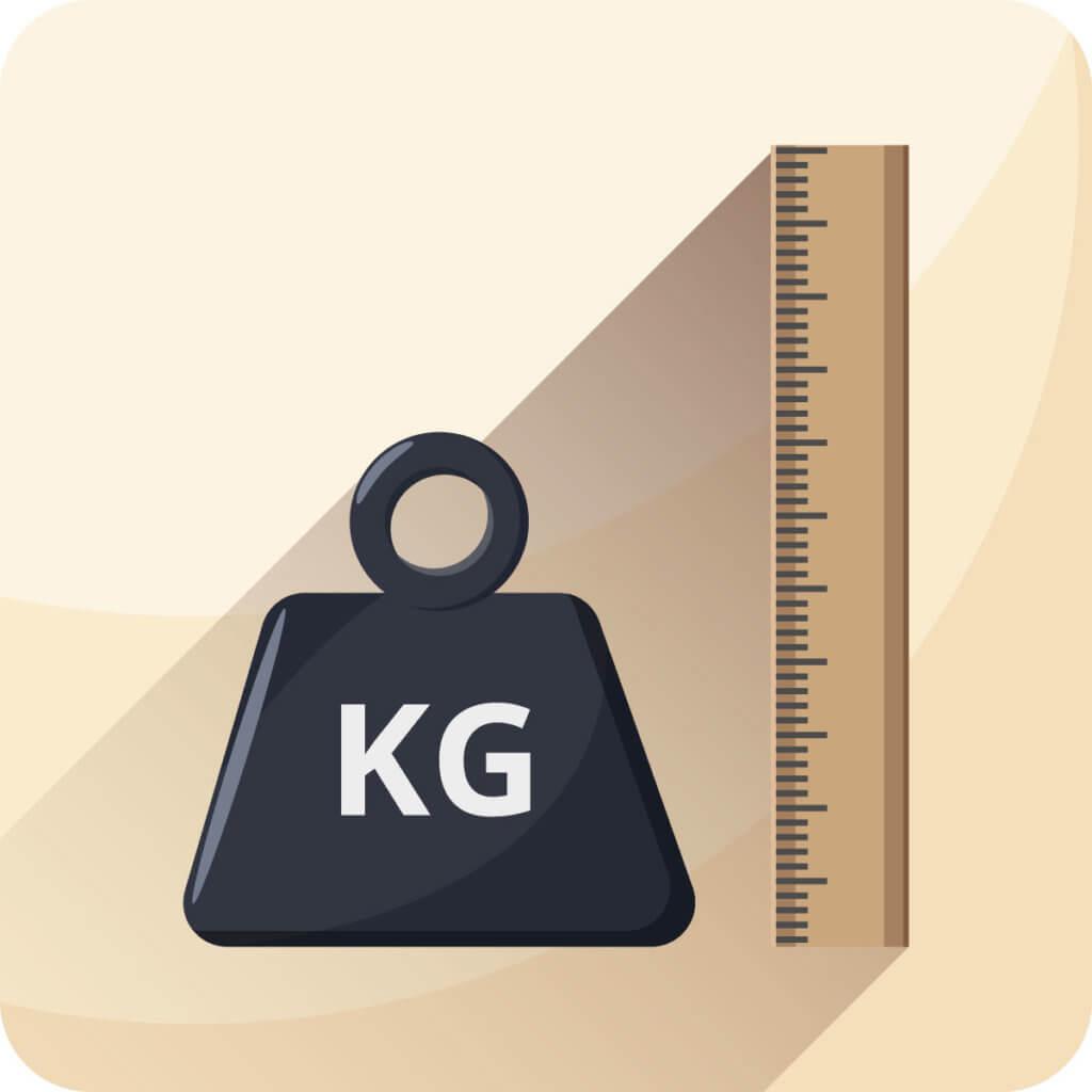 Masse und Gewicht