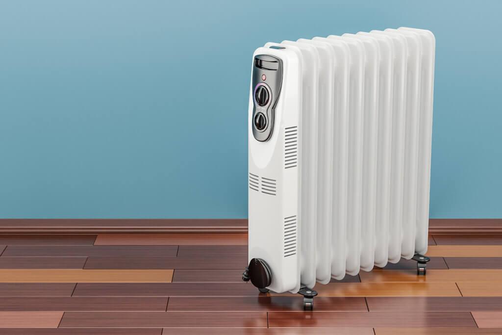 Oelradiator im Wohnzimmer