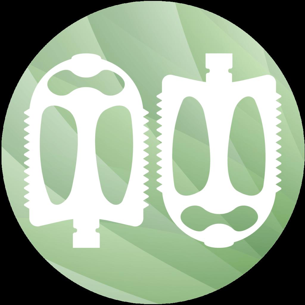 Pedalabstand - Icon