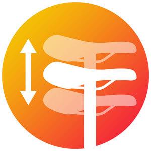 Icon zur Sattelhoehe