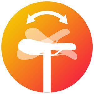 Icon zum Neigungswinkel des Sattels