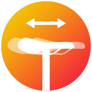Icon zum Versatz des Sattels