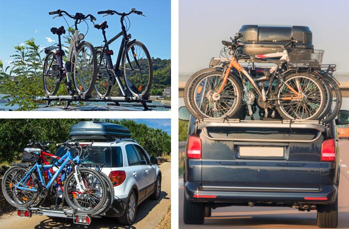 verschiedene Fahrradträger