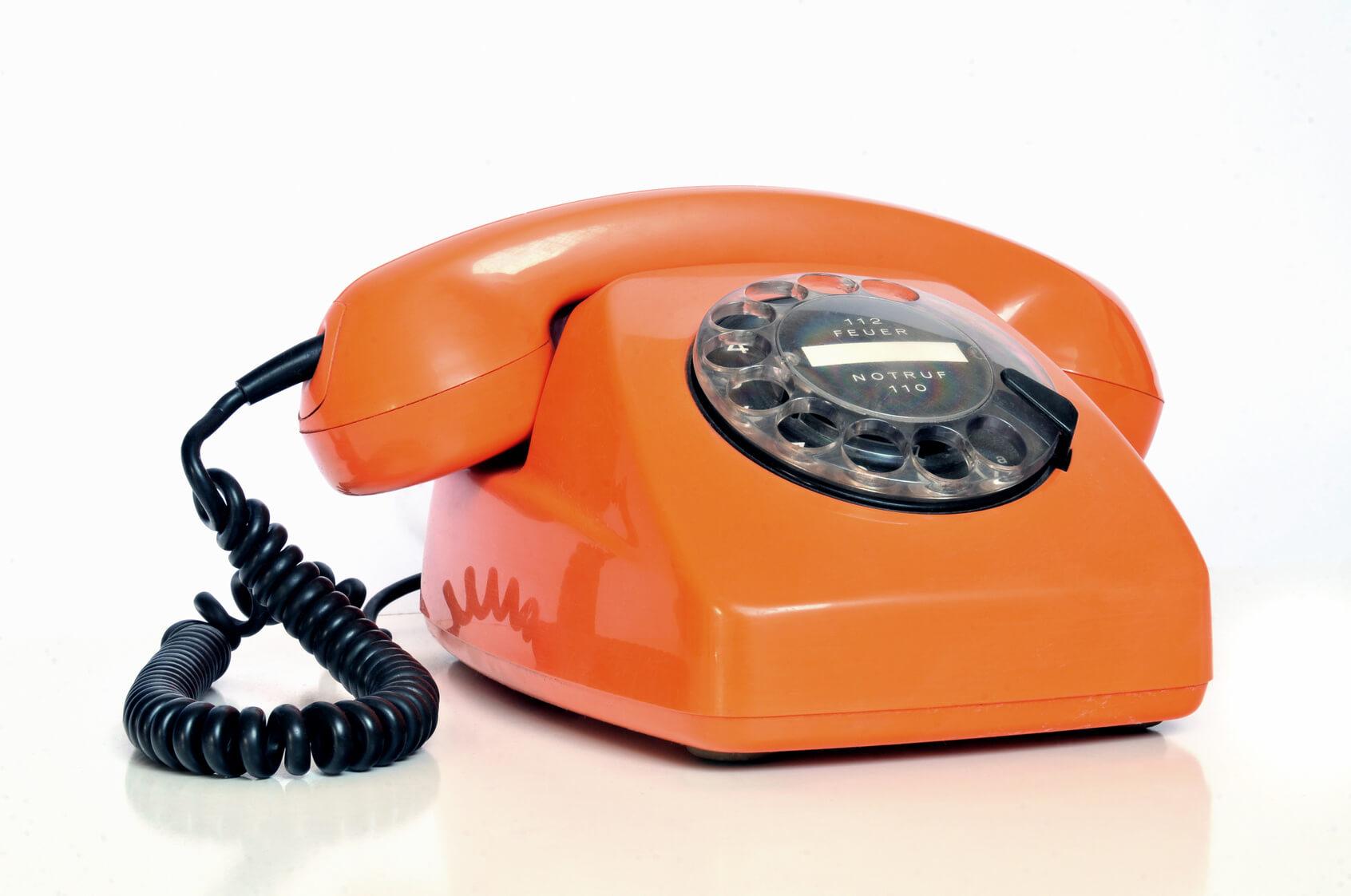 Retro Telefon mit Wählscheibe