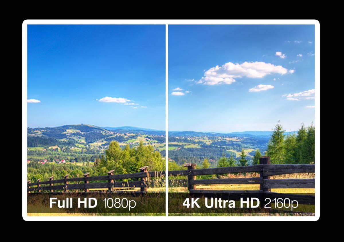 Vergleich Full-HD Ultra-HD