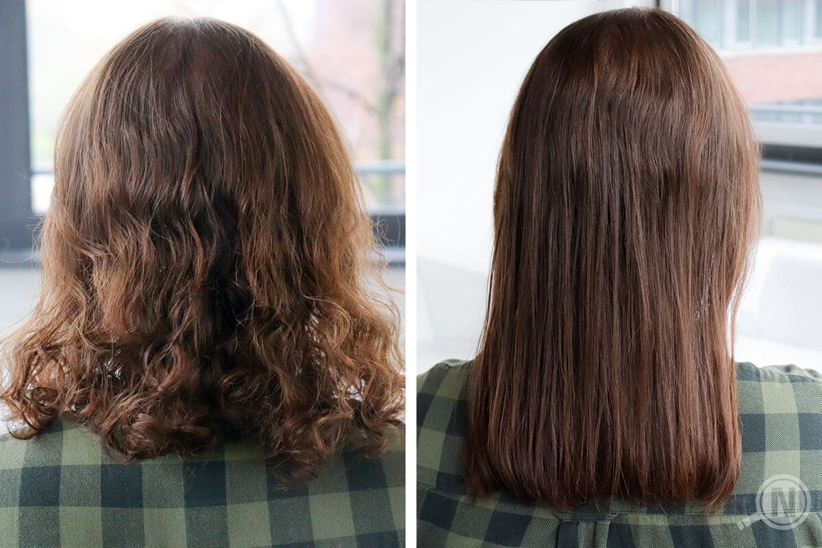 lockige Haare versus glatte Haare