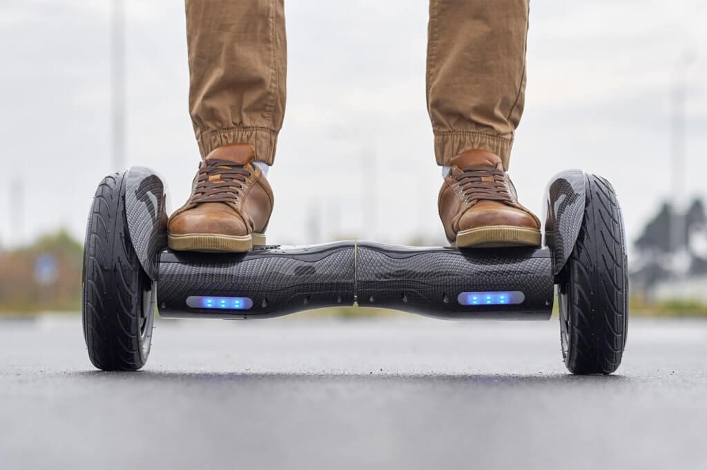 Person auf Hoverboard