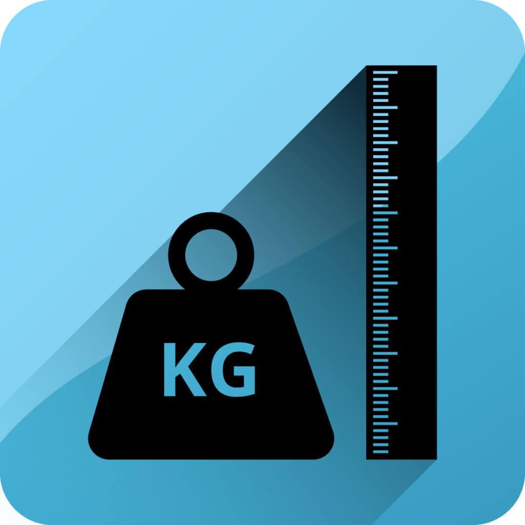 Groesse und Gewicht - Icon