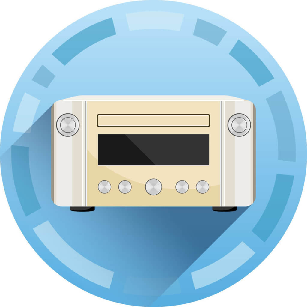 Radio mit Receiver