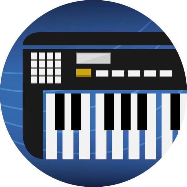 keyboard icon grafik bedienelemente