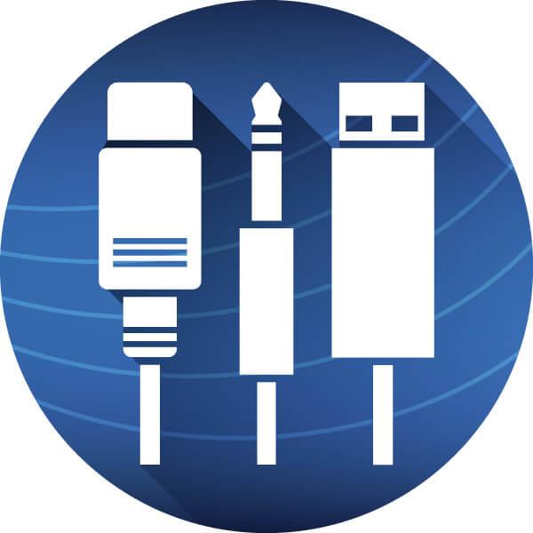 keyboard icon grafik anschluesse kabel