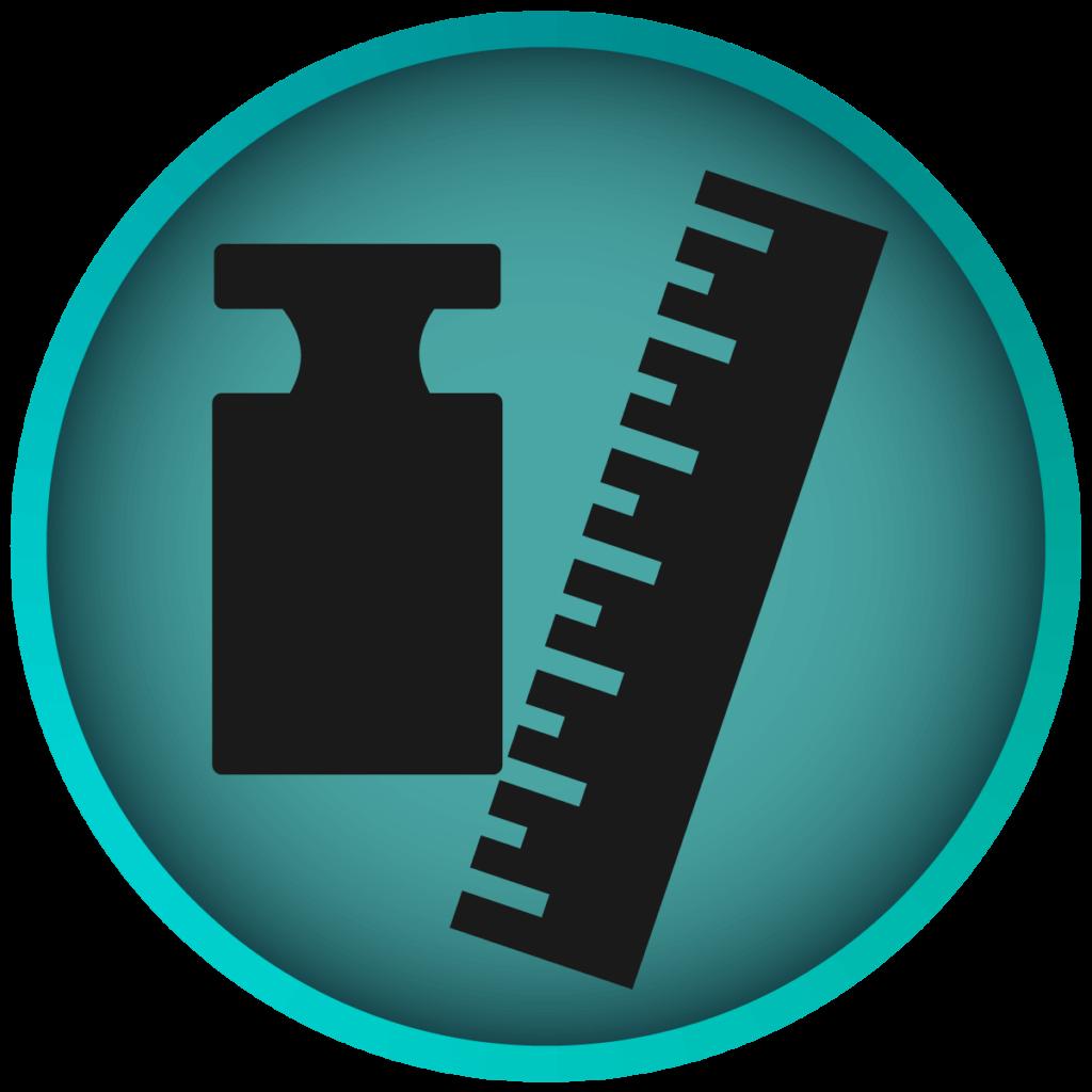 Icon zu Groesse und Gewicht