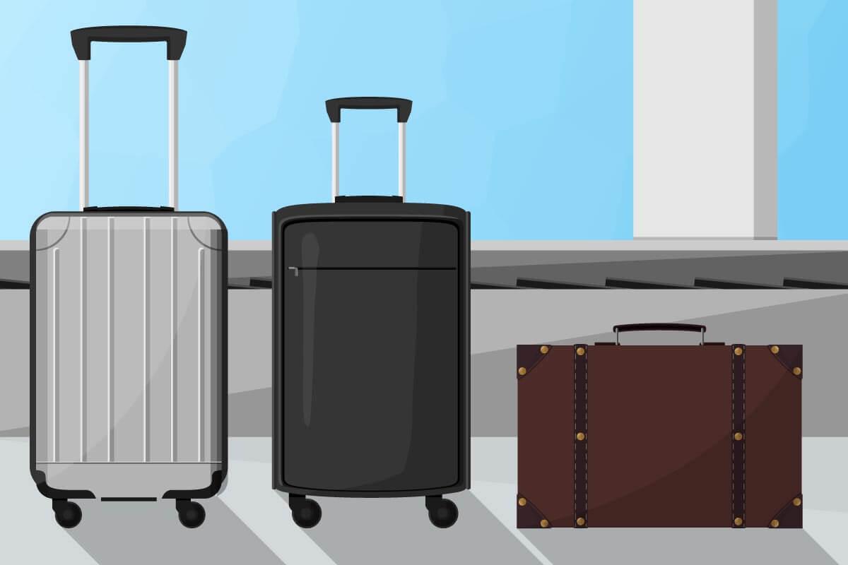 Drei verschiedene Kofferarten