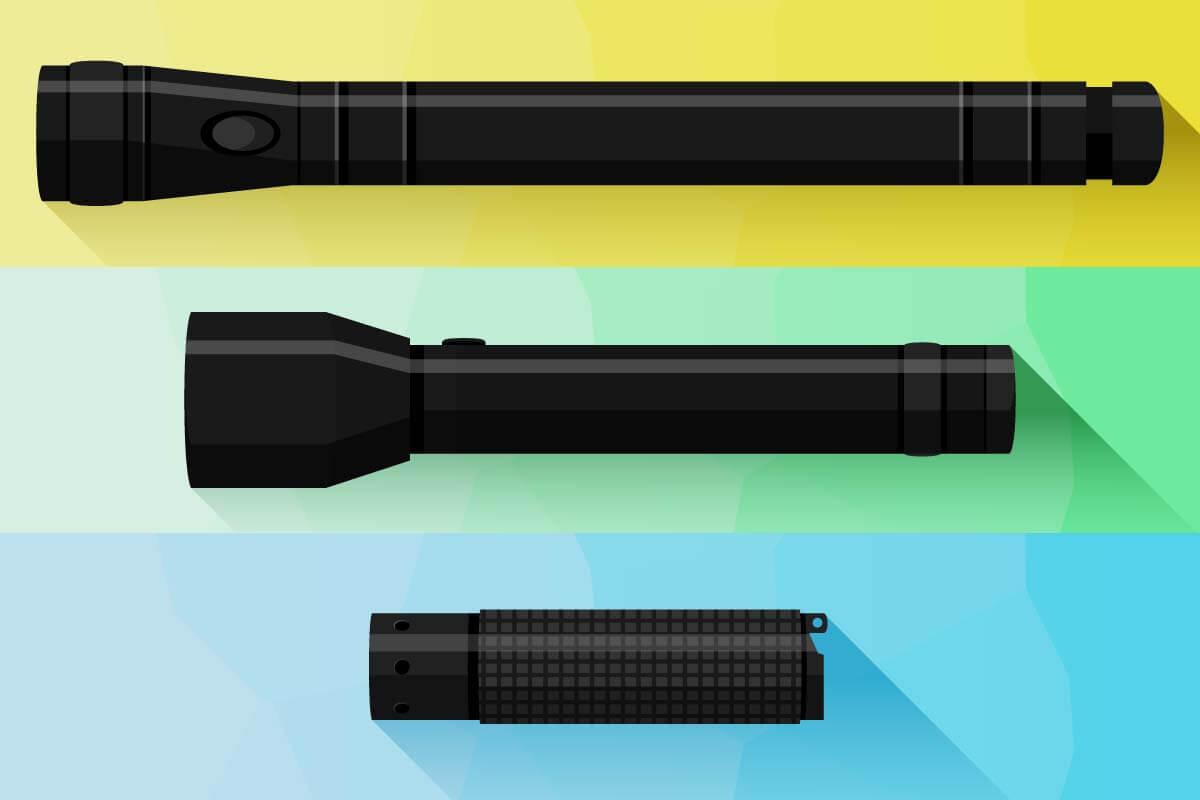 Mini-, mittelgroße und Stab-Taschenlampen