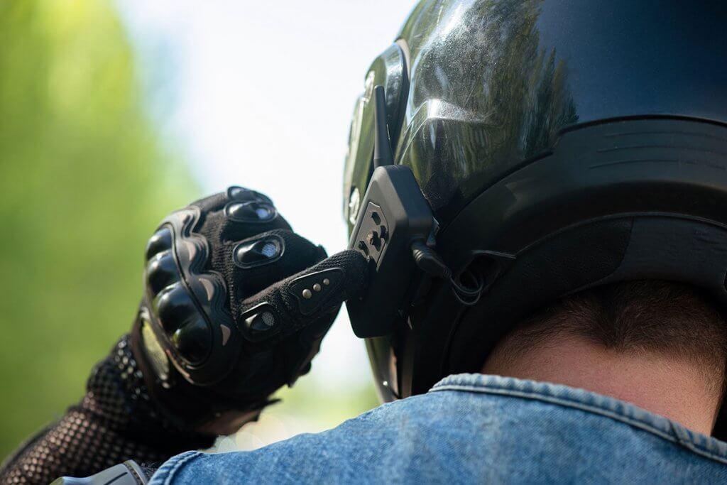 kanalwahl am motorrad-headset