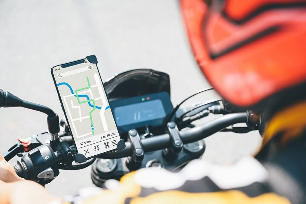 navigation am motorradlenker