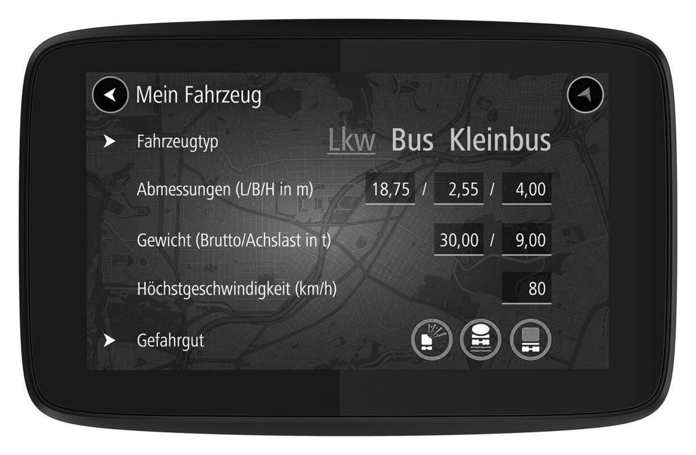 Navigationsgerät für LKW-Fahrer
