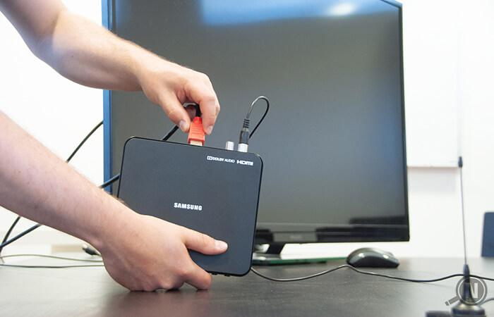 DVB-T2-Receiver anschließen