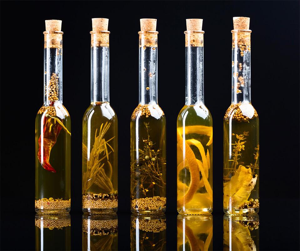 Verschiedene Olivenöle