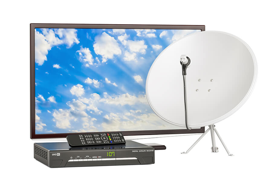 Schüssel Receiver TV-Gerät