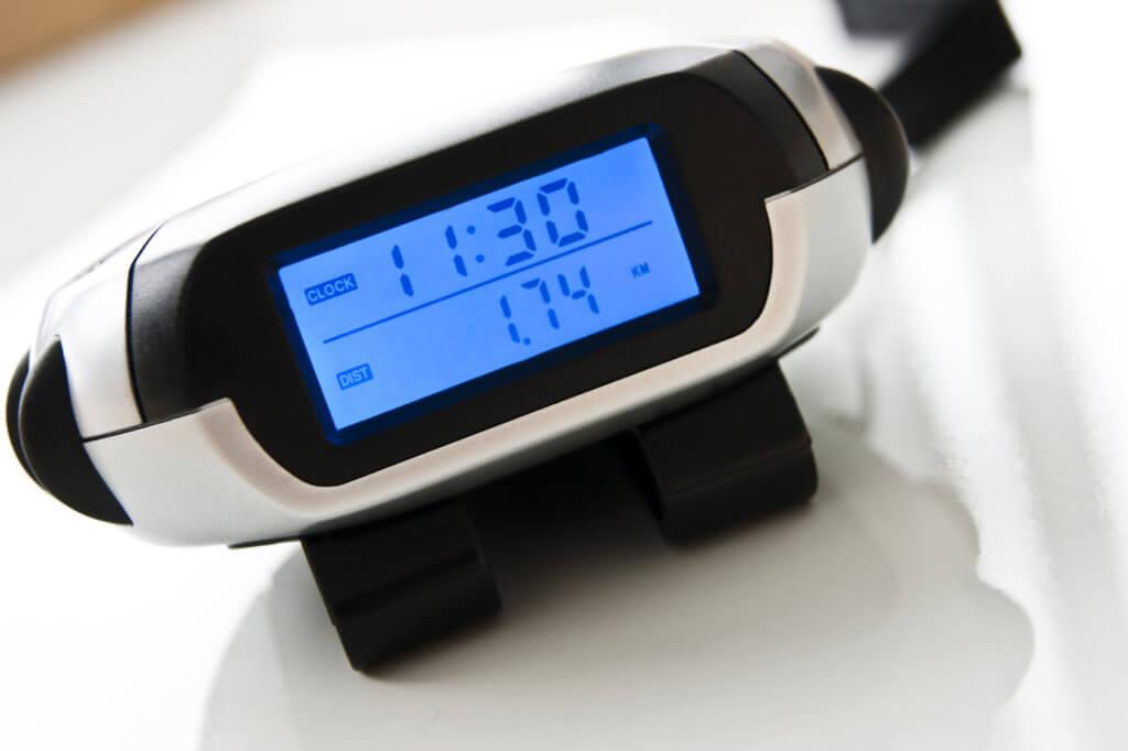 Schrittzähler mit einfachem Display