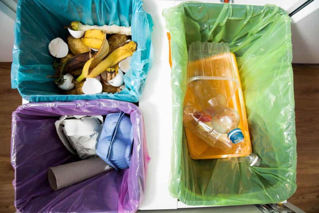 Plastik, Papier und Biomüll