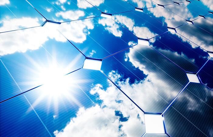 einfache Solarplatte