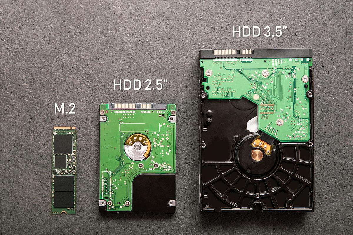 drei SSD-Typen