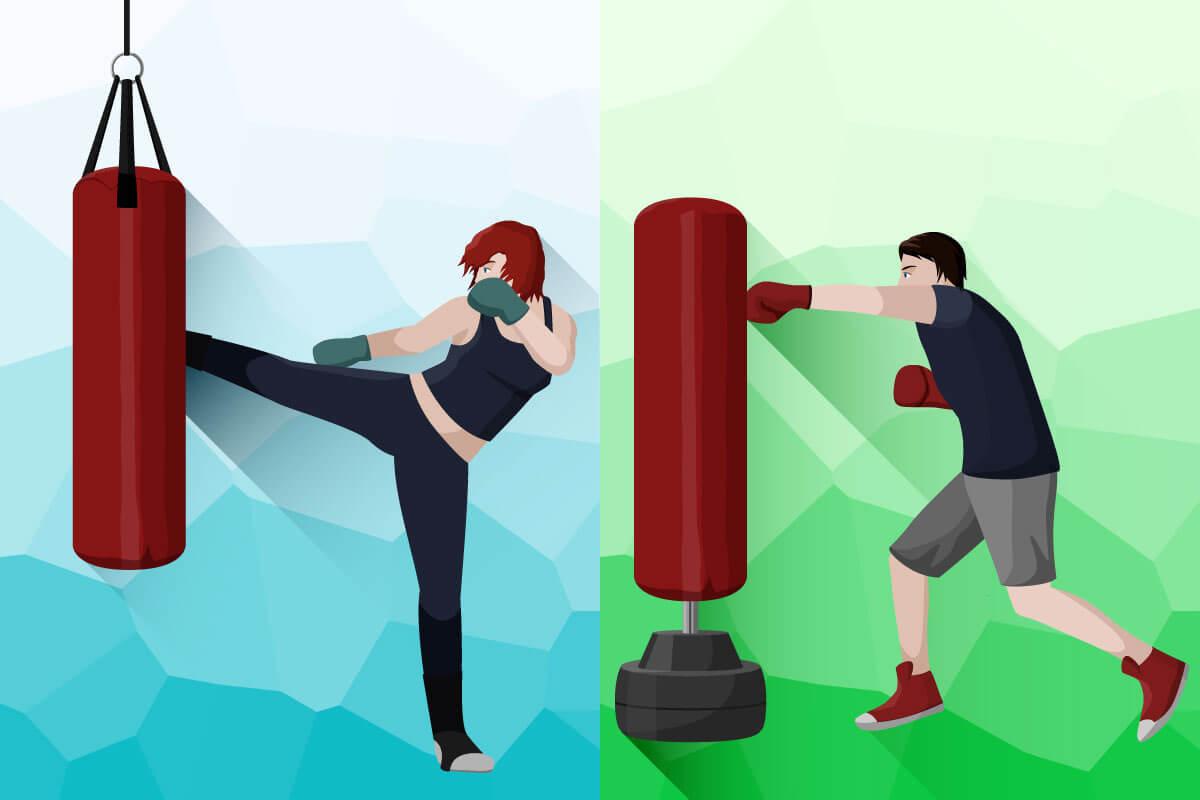 standboxsack-haengender_bocksack_vs_standbocksack