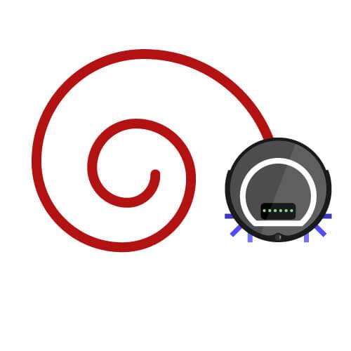 Staubsauger Roboter Spiralfahrt