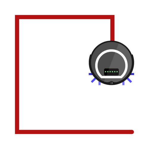 Staubsauger Roboter Wandverfolgung