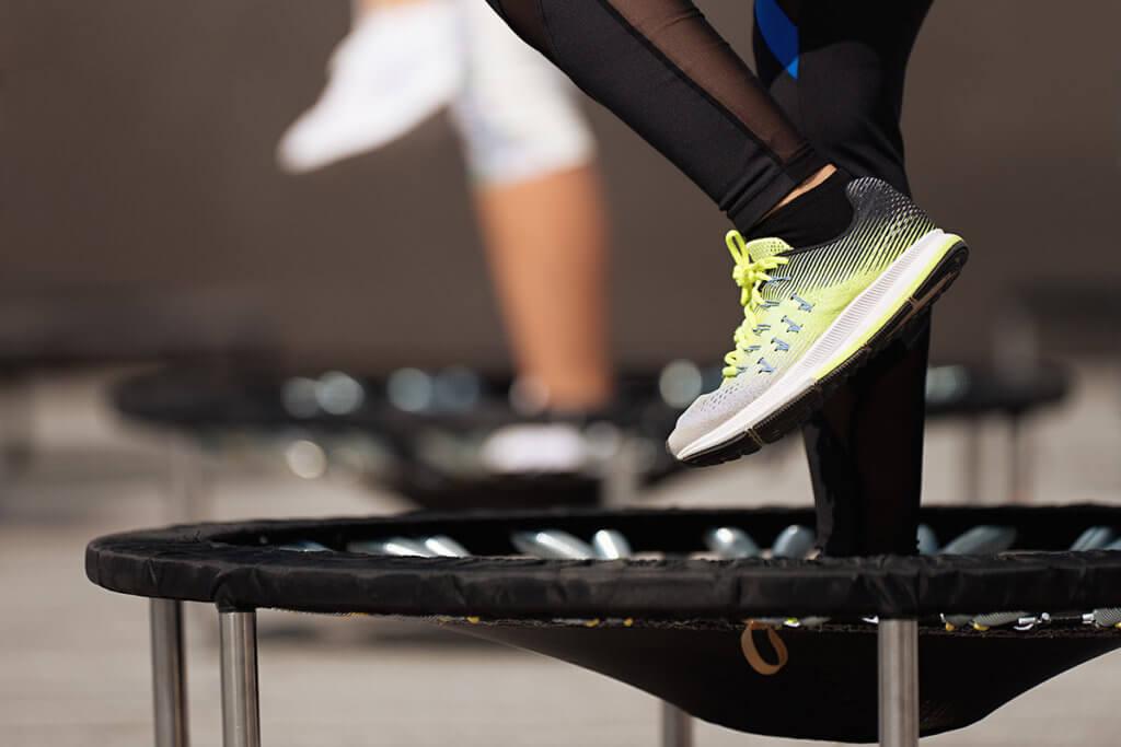 Fitness auf dem Trampolin