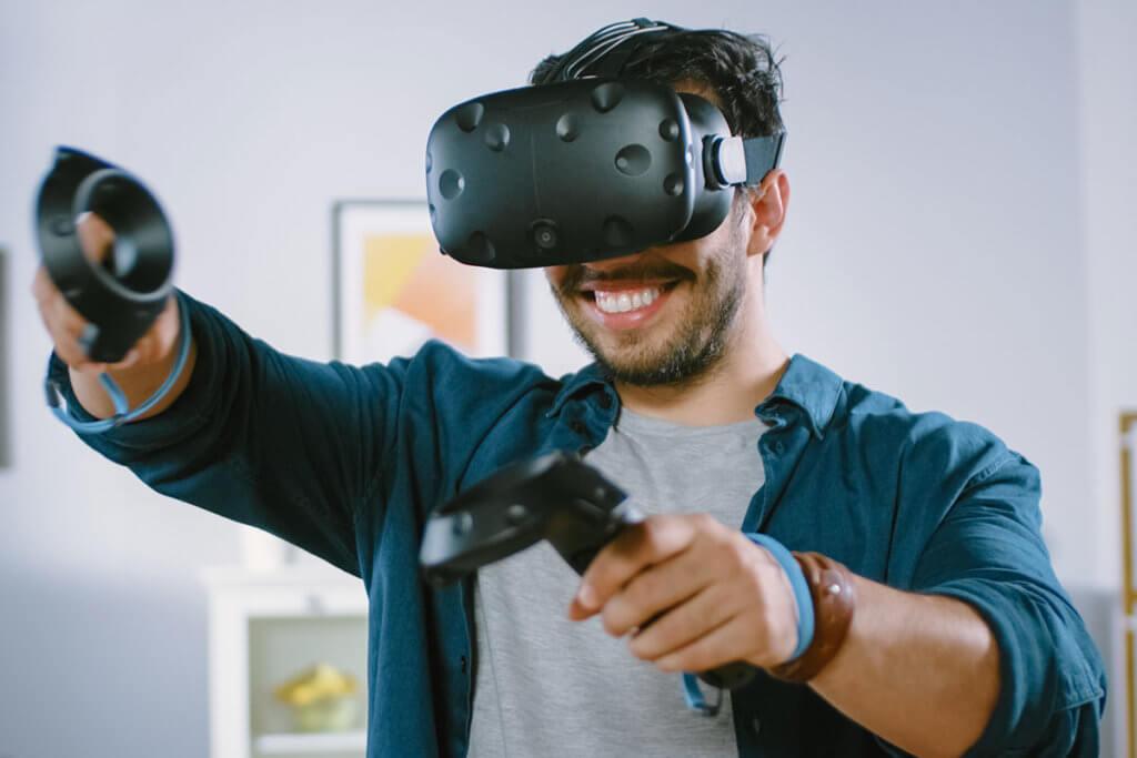 Spielen mit VR-Brille