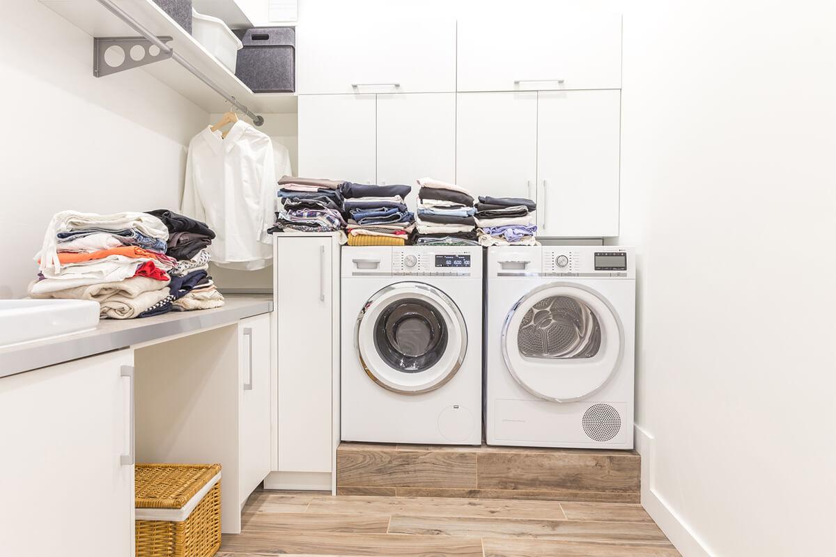 Platzbedarf für den Wäschetrockner